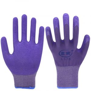 Latex foam dipped gloves3