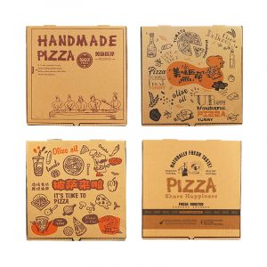 9 inch kraft paper corrugated pizza box (1)
