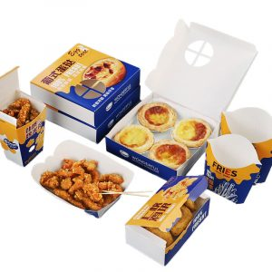 Blue and yellow Fried chicken packaging series (1)