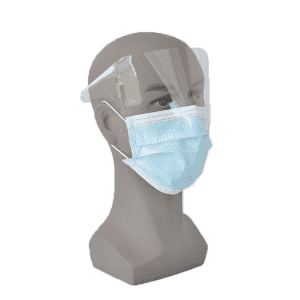 Disposable Non Woven 3 Ply Face Mask With Eye Shield