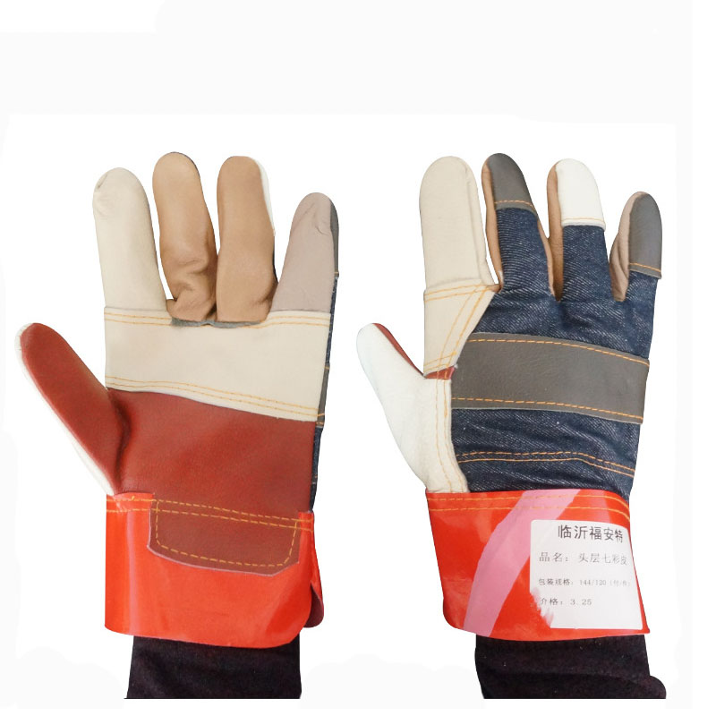 Colorful leather welding gloves (2)