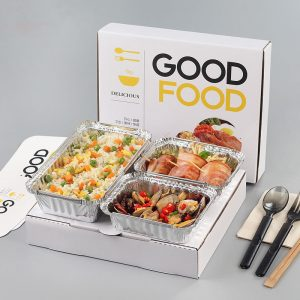 Customizable printing Disposable aluminum foil tin foil box fast food box Corrugated box (2)