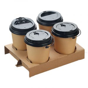 Detachable Four-Grid Paper Cup Holder (2)