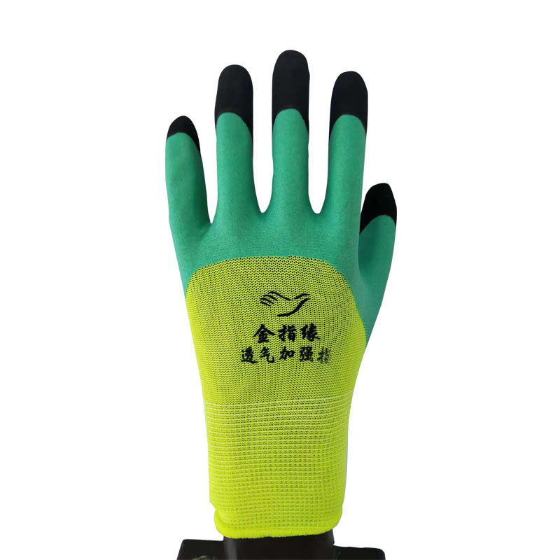 Dipped nylon labor protection industrial protective gloves (2)