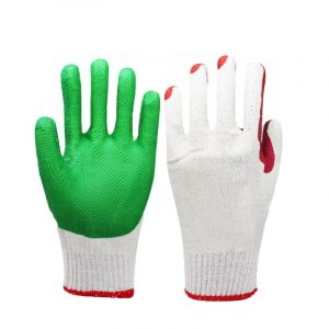 Dipped rubber patch labor gloves (2)