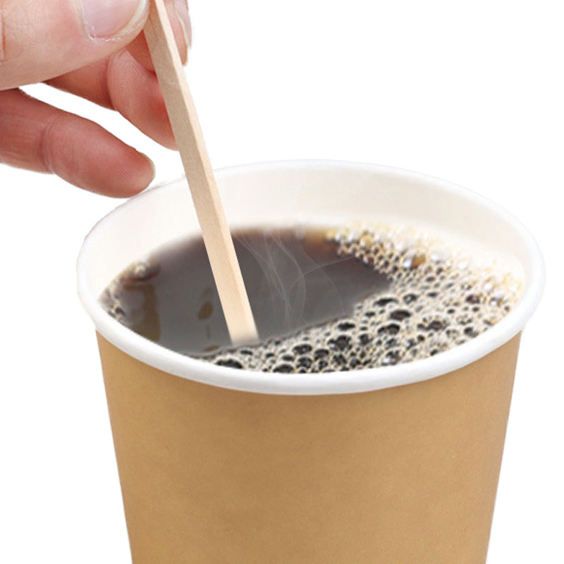 Disposable And Independent Wooden Long Handle Stirring Stick Hot Drinking Milk Tea Stick (1)