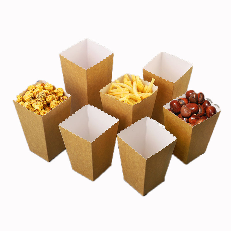 Disposable Cowhide White Card Popcorn Bucket (3)