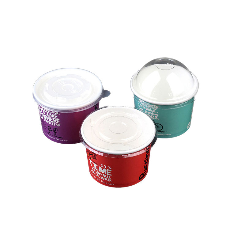 Disposable Ice Cream Paper Bowl Cover (2)