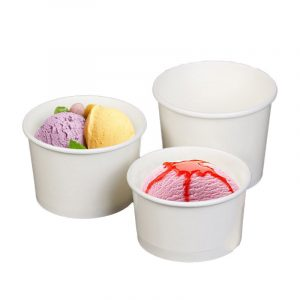 Disposable Ice Cream Without Printing Blank Paper Bowl (3)