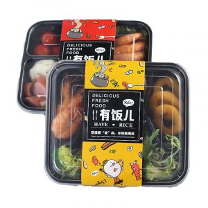 Disposable Lunch Box Plastic Girdle (1)