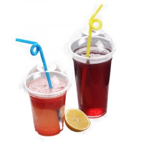 Disposable PET Beverage Cup With Lid (17)