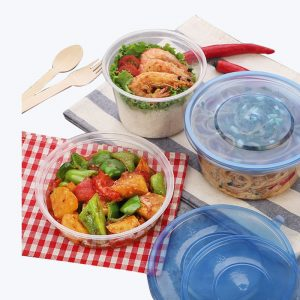 Disposable Plastic Round Lunch Box (1)