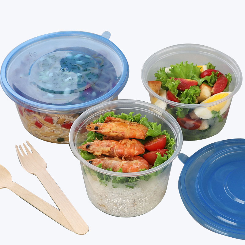 Disposable Plastic Round Lunch Box (2)