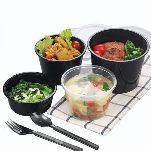 Disposable Plastic Soup Packing Box With Lid (3)