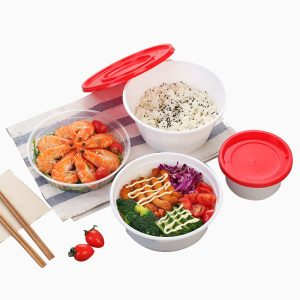 Disposable Red Cover Double Packing Box (5)