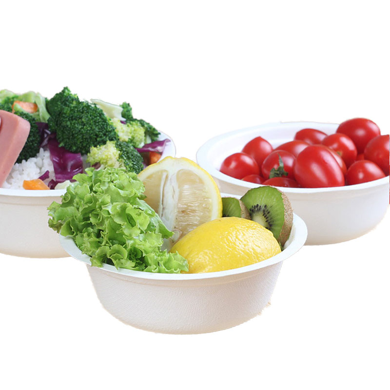 Disposable Round Pulp Green Paper Bowl (2)