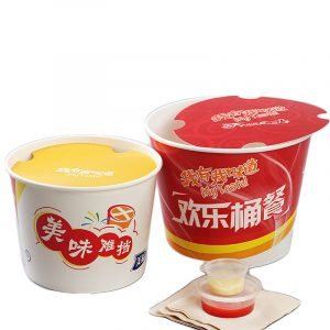 Disposable White Card Fried Chicken Whole Family Barrel Custom Packaging (3)