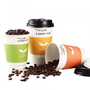 Disposable blank thickened coffee milk tea cup (1)