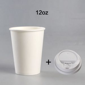 Disposable blank thickened coffee milk tea cup (11)