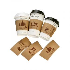 Disposable coat-leather corrugated cup cover (2)