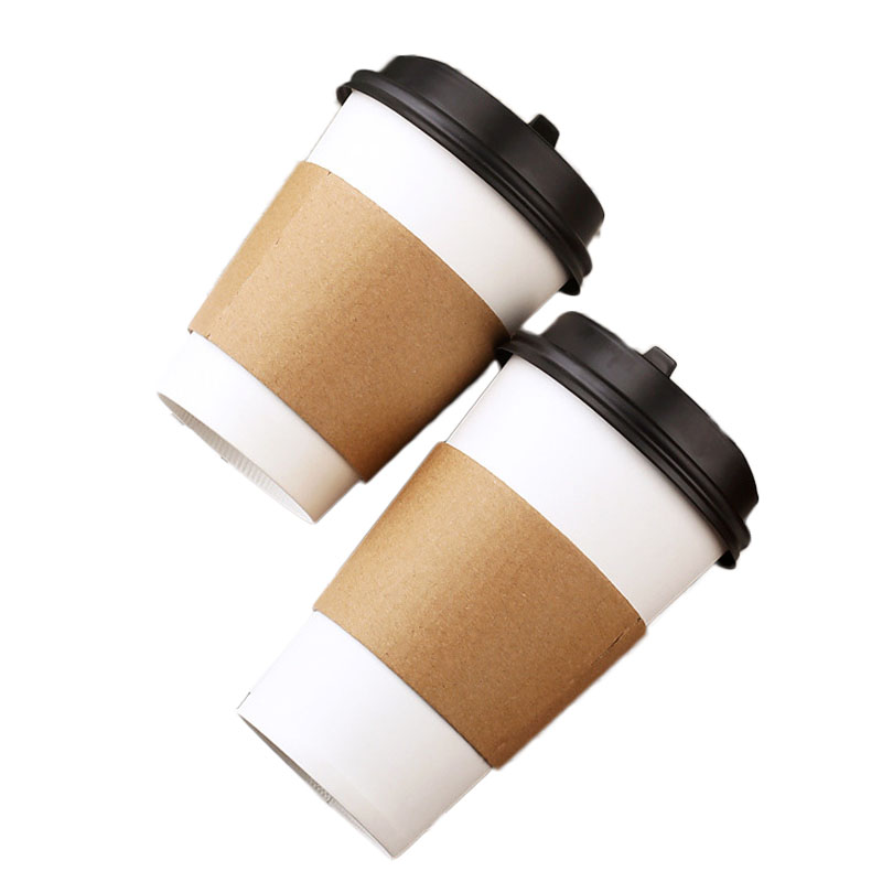Disposable coffee paper cup set (2)