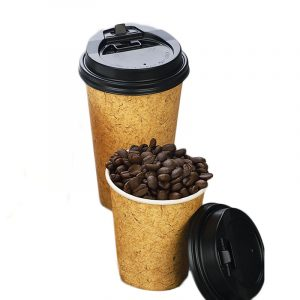 Disposable cowhide single-layer thickened paper cup (1)