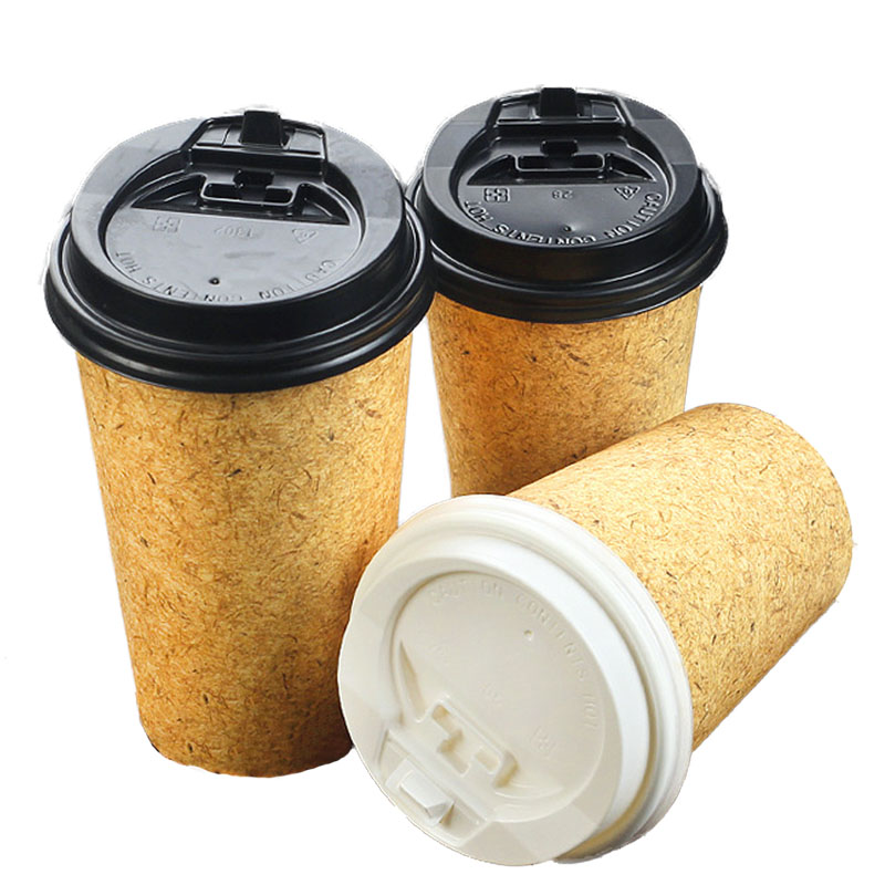 Disposable cowhide single-layer thickened paper cup (2)
