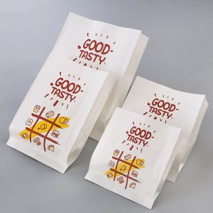 Disposable greaseproof paper fried chicken middle packing bag (2)
