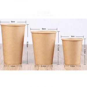 Disposable kraft coffee cup (1)