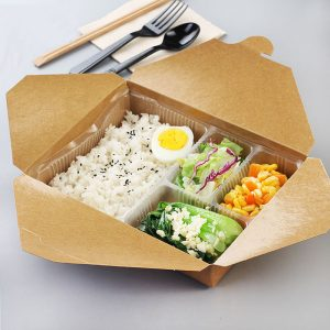 Disposable kraft meal box set