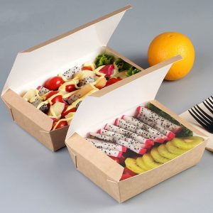 Disposable kraft paper cover lunch box (2)