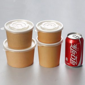 Disposable kraft paper soup bowl (1)