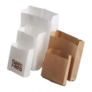 Disposable oilproof paper bag for French fries (3)