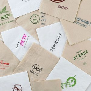 Disposable original bamboo pulp custom printing napkin OEM LOGO (1)