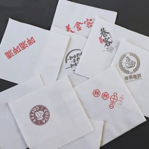 Disposable original bamboo pulp custom printing napkin OEM LOGO