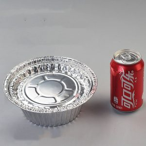 Disposable tin foil bowl disc packing box (1)