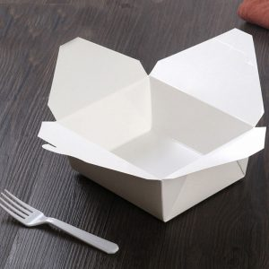 Disposable white card fast food box (4)
