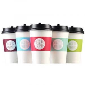Five grade adjustable coffee cup cover (1)