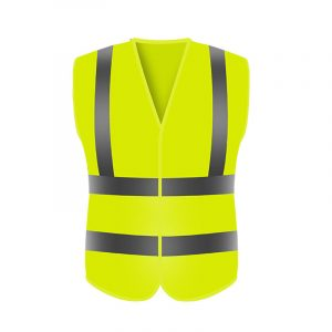 Fluorescent Yellow Reflective Vest (2)