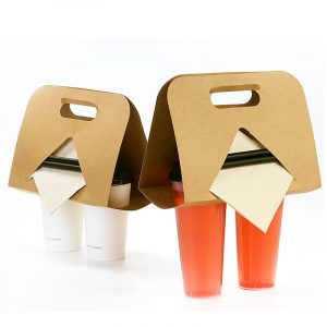 Kraft Paper Take-Out Paper Cup Holder (2)