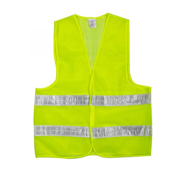 Multi-Pocket Double-Striped Reflective Vest