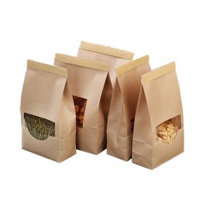 Open Window Kraft Paper Ziplock Bag (3)