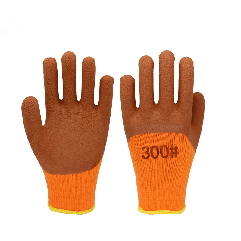 lus velvet foam dipped nylon gloves