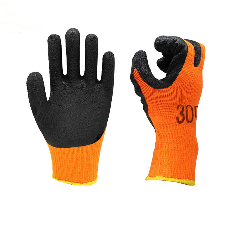 Plus velvet padded flat dipped gloves