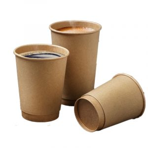 Pure cow card double-layer coffee paper cup (1)