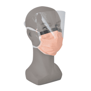 Disposable Non Woven 4 Ply Face Mask With Shield