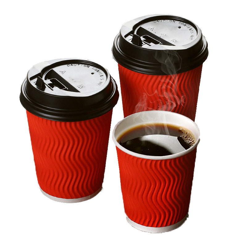S-shape hollow corrugated double-layer paper cup (1)