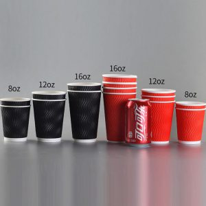 S-shape hollow corrugated double-layer paper cup (8)