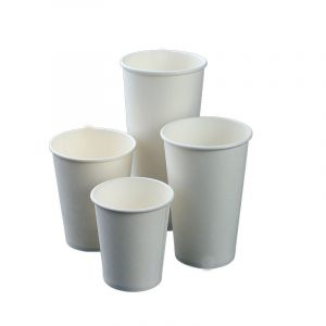 White single layer disposable cup with lid with stir bar (10)