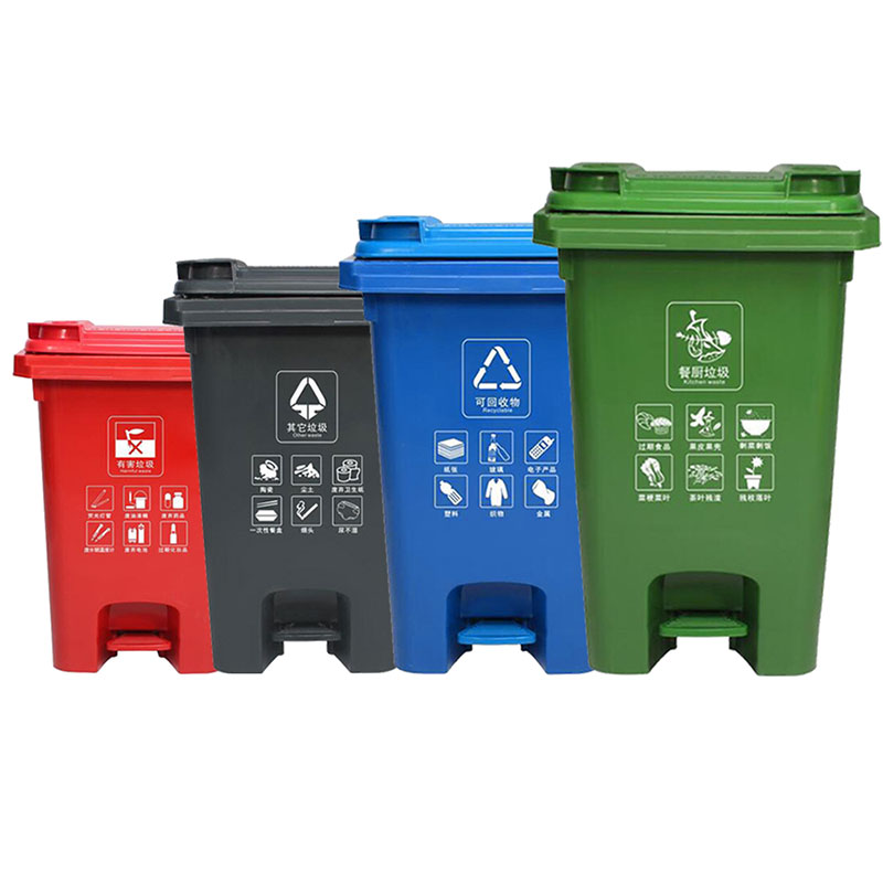 60L Outdoor Pedal Trash Can (1)